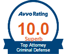 AVVO 10.0 Top Attorney Criminal Defense